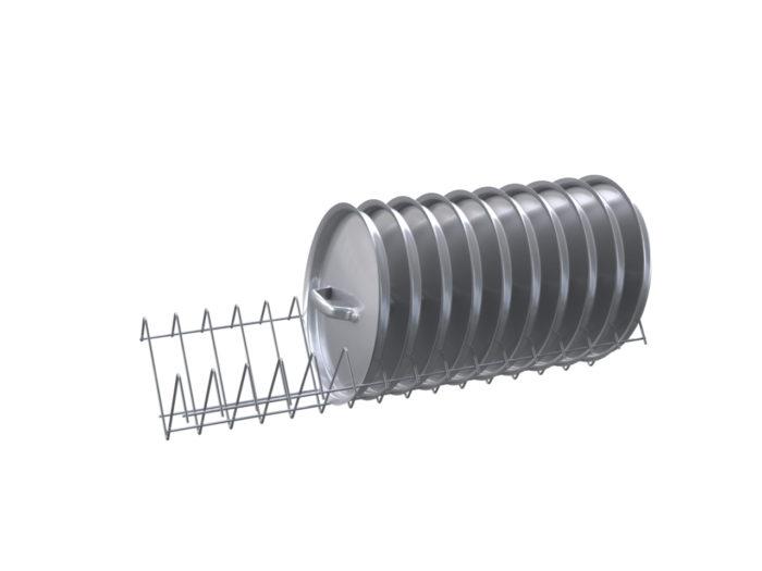 Полка для крышек под шкаф ШЗДП-4-950-02